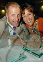 Tim and Paula Edwards, of Westwood Lodge - winners of the overall Business of the Year award